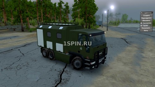 Мод Iveco Eurotech для Spin Tires v03.03.16